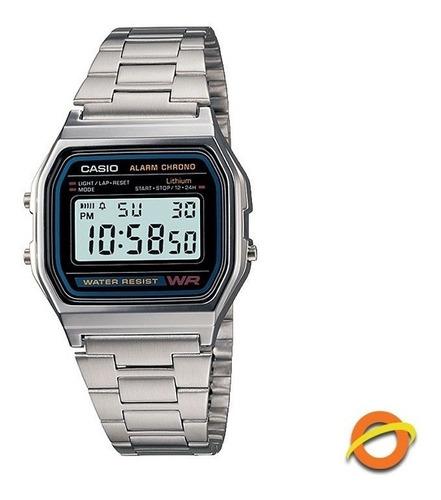 Reloj Casio Digital Acero Inoxidable Cronometro A-158wa
