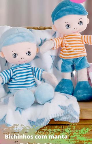 Kit Manta Soft Ursinhos De Pelúcia Baby Anti-alérgico 02 Und