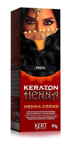 Keraton Henna Creme Kert Preto
