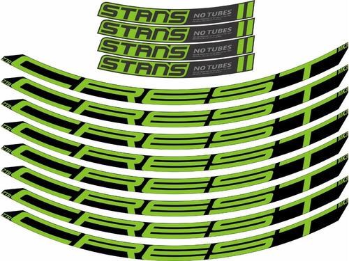 12 Adesivos Rodas 29 Bike Mtb Ztr Crest Stans No Tubes Cores