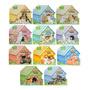 Livro Infantil Recortado Cães Casinha Cachorro 11 Volumes