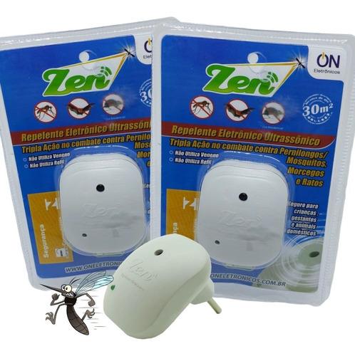 Kit 2 Repelente Eletrônico Mosquitos Repelente De Tomada Zen
