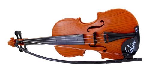 Mini Violino Infantil Acústico Cordas Aço Iniciante Brinqued