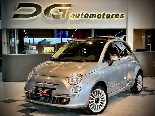 Fiat 500 Lounge At 1.4n 2016 50.000 Km Gris