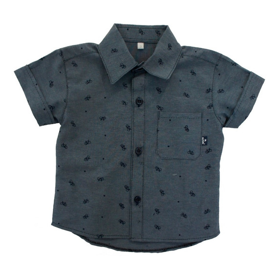 Camisa Manga Corta Bebé Estampada - Talles 3 A 30 Meses