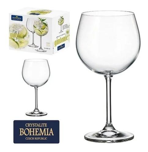 Jogo Com 2 Taças Cristal Gin Tonica 620 Ml Bohemia