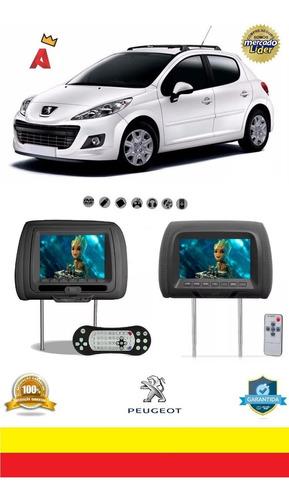 Kit Par Encosto Cabeça Tela 7 Dvd Usb Games Jogos 207 Hatch