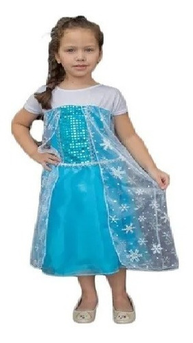 Fantasia Frozen Elsa Anna Infantil Princesas Com Capa