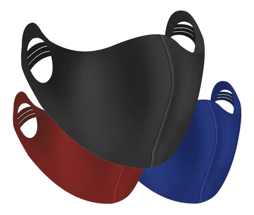 Kit 3 Máscara Esportiva Correr E Academia Neoprene Regulável