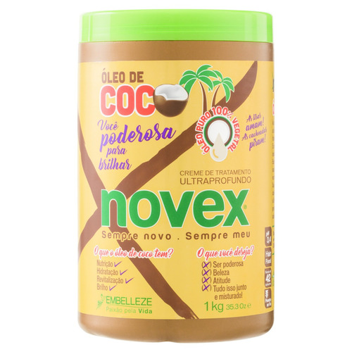 Creme De Tratamento Óleo De Coco Novex 1kg