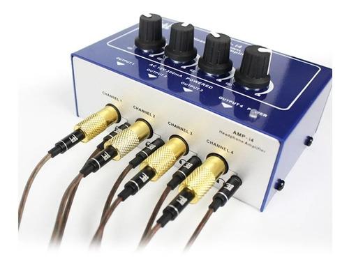 Amplificador De Fones Ouvido Distribuidor Audio 8 Ch P2 P10