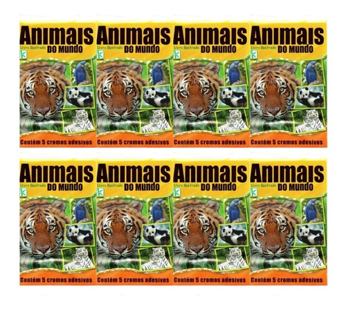 Kit 100 Figurinhas Do Album Animais Do Mundo (20 Envelopes)