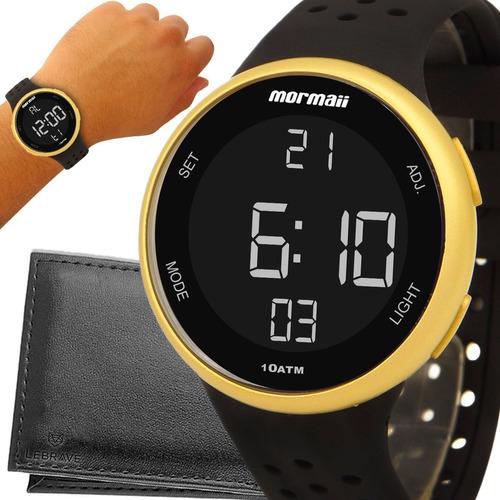 Relógio Dourado Mormaii Digital Original 1 Ano De Garantia
