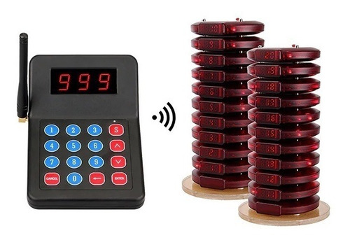 Sistema Fila De Espera Eletrônica Com 20 Pagers - Piratende