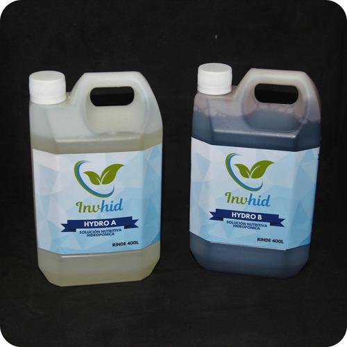 Solución Nutritiva Hidroponía Hydro A&b 400 Litros Premium
