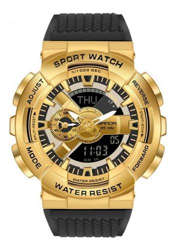Relógio Masculino Sanda 9004 Militar Prova D'água Original