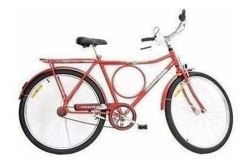 Bicicleta Barra Circular Monark Vermelha 13812