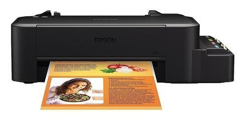 Impresora A Color Simple Función Epson Ecotank L120 Negra 220v