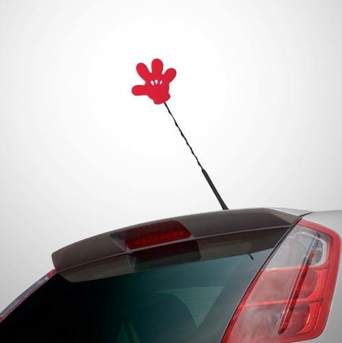 Enfeite Antena Automotivo Mickey Disney Carro Bolinha Luva