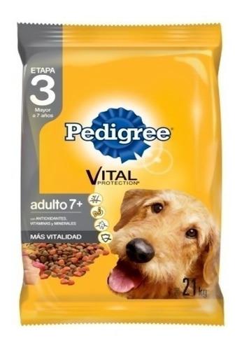 Comida Perro Pedigree Adulto Mayor 21 Kg + Obsequio + Envío