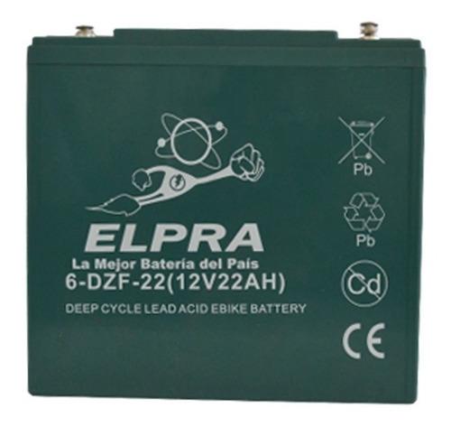 Batería Elpra 12v 22ah Moto Eléctrica Lucky Lion Cute