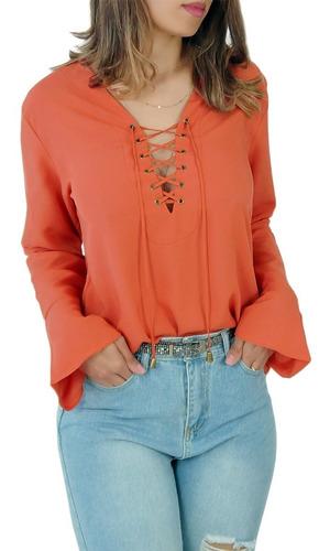 Blusa Camisa Feminina Modeni