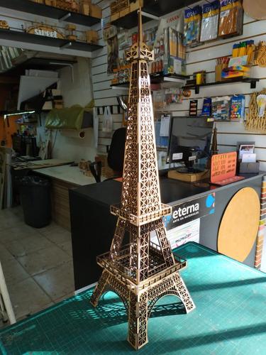 Torre Eiffel 60cm Mdf Fibrofacil Corte Laser