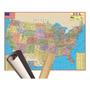 Mapa Estados Unidos Eua Usa 120 X 90cm Gigante Enrolado