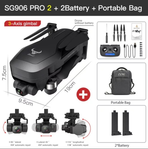 Drone Sg 906 Pro2 Gps Gimbal 3 Eixos Wi-fi 5g 4k 2 Baterias