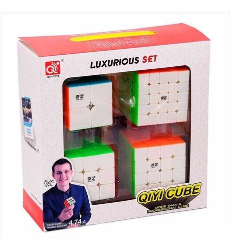 Kit Cubo Mágico Qiyi 2x2+3x3+4x4+5x5 Profissional