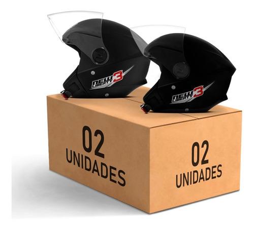 Kit 2 Capacetes Moto Aberto Pro Tork New Liberty 3