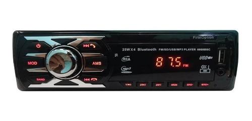 Som Automotivo First Option 6660bsc Com Usb, Bluetooth E Leitor De Cartão Sd Original