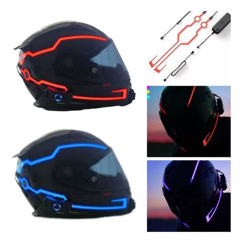 Tira Luminosa Neon Para Capacete Led Luz Sinaliza Moto Gp