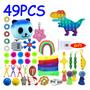 Pop It Colorido, Pacote De Brinquedos Fidget, Conjunto De Fi
