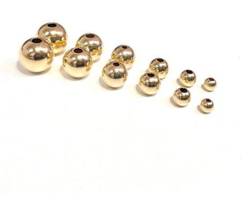 100 Balines 4mm Oro Laminado 18k Garantía 10 Años