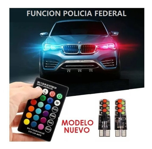Par Bombillo Led Cocuyo T10 Nueva Version Moto/carro Control