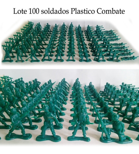 Dante42 Lote 100 Soldados Plastico Combate