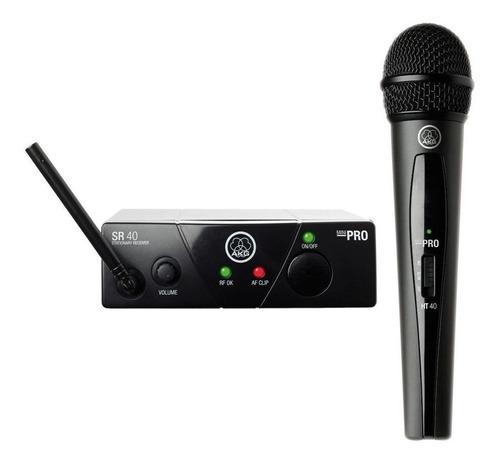 Micrófono Inalámbrico Akg Wms40 Mini Vocal Set Dinámico Cardioide Negro