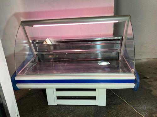 Vitrina Heladera 1.50m Vidrio Curvo Lácteos Fiambres Carnes