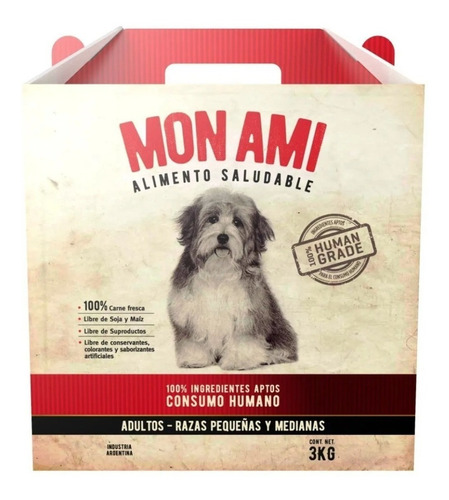 Alimento Mon Ami Para Perro Adulto De Raza Pequeña/mediana Sabor Mix En Bolsa De 3kg