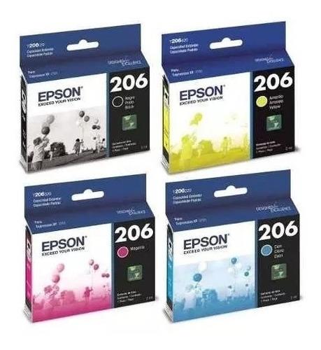 Sets 4 Cartucho Epson T206 Original Xp 2101 Kit /juego
