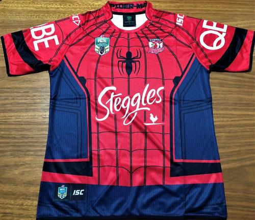 Camisa Sydney Roosters Rugby Spiderman Edição Limitada