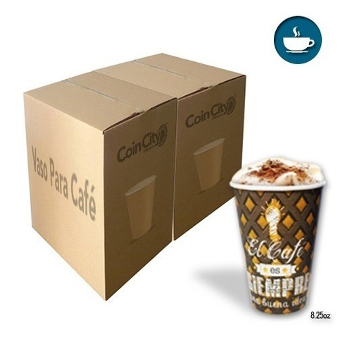 2,000 Vasos De Café Para Vending (8.25 Oz) - Diseño Único