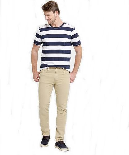 Calça Jeans Masculina Plus Size Slim Com Elastano Do 36 A 62