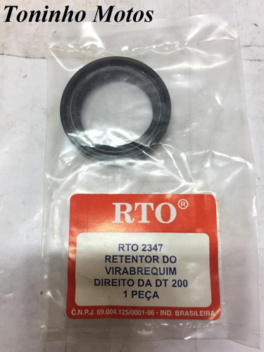 Retentor Do Virabrequim Lado Direito Yamaha Dt200 - Rto 2347
