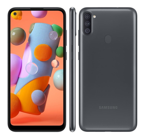 Celular Samsung Galaxy A11 Dual 6,4  64gb 3gb Ram Octa Preto