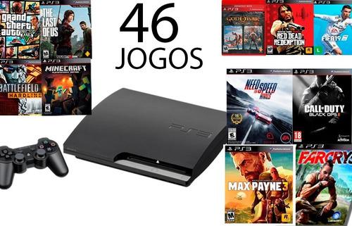 Playstation 3 Ps3  Slim Ou Super Slim +42 Jogos+ Controle...