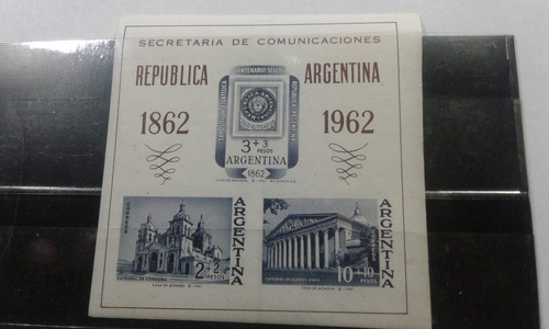 Bloque (hoja) Estampillas Argentina Sec.comunic.p.hb19-gjb14