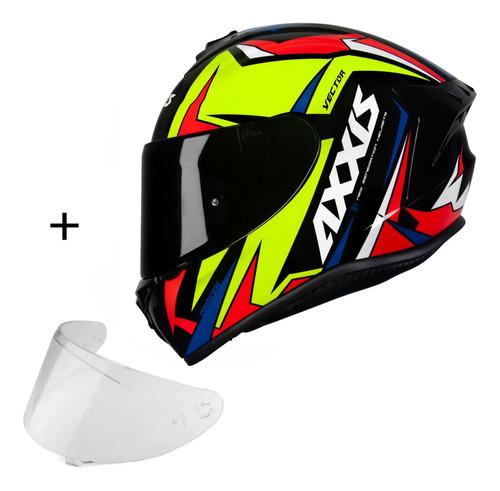 Capacete Axxis Draken Vector Esportivo Moto Viseira Fumê