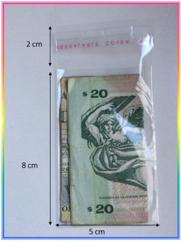 Bolsa Transparente Cierre Auto Adhesivo 5x8 Cm, Pack X 100